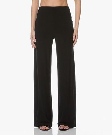 Norma Kamali Travel Jersey Straight Leg Pants - Black