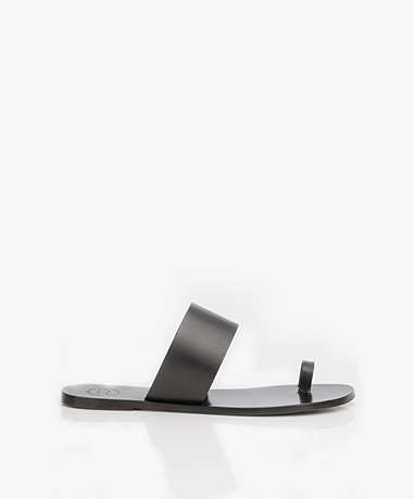ATP Atelier Astrid Leather Toe Sandals - Black