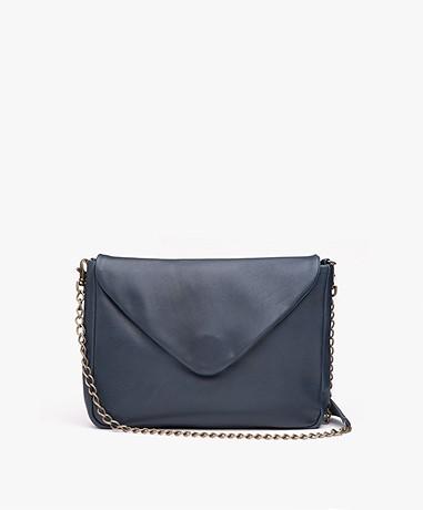 BY-BAR Run Leather Shoulder Bag - Petrol Blue