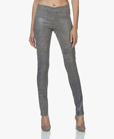 Mes Demoiselles Esther Leather Leggings - Blue