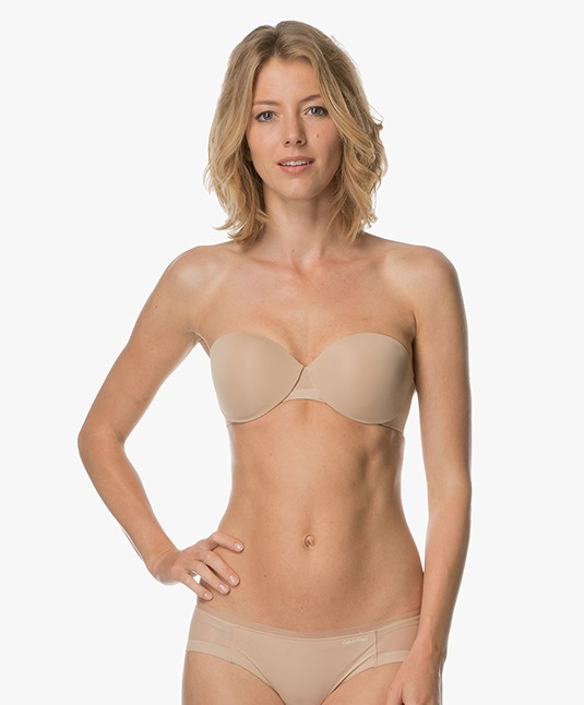 aa9e1069f641b Calvin Klein Sculpted Lightly Lined Strapless Bra - Bare - qf1801e 20n -  bare