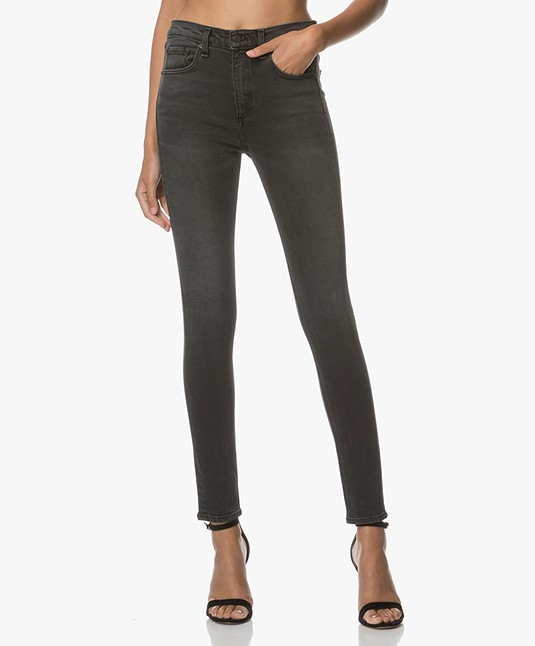 Rag & Bone / Jean High Rise Skinny Jeans - Wallflower