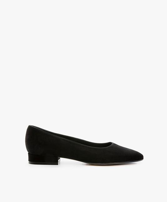 Panara Suede Ballet Flats - Black