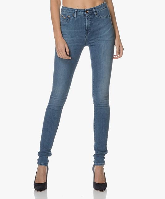 Denham Needle High Skinny Jeans - Denim Blauw