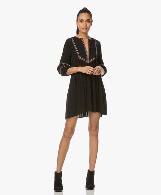 Ba&sh Tale Geborduurde Mini-jurk - Zwart