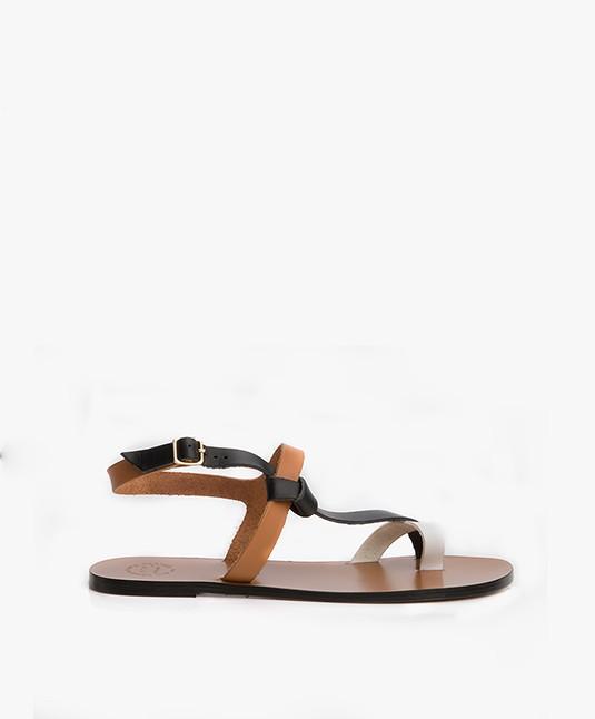 ATP Atelier Arona Tri-tone Leather Sandals - Terra/Black/White