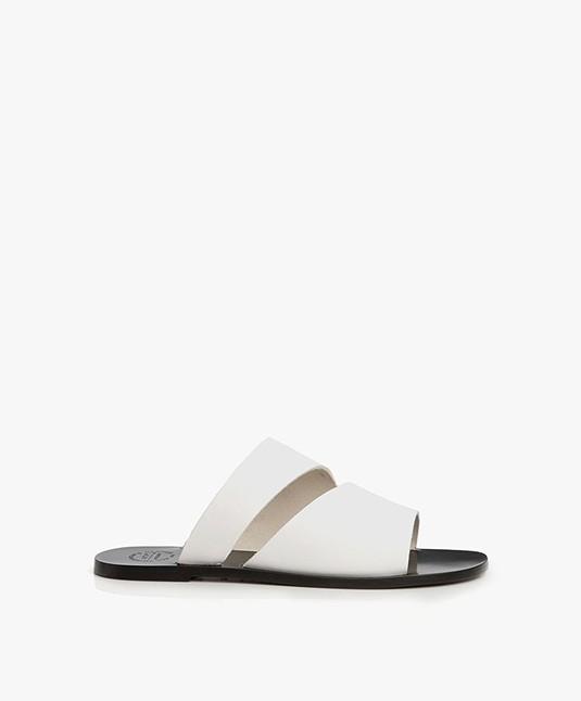 ATP Atelier Lis Leather Slipper Sandals - White