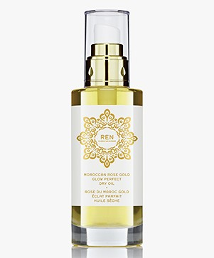 REN Clean Skincare Moroccan Rose Gold Glow Perfect Dry Oil