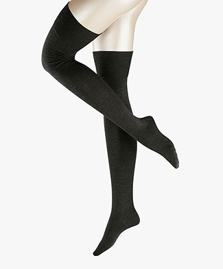 FALKE Seasons Overknee Striggings - Grey