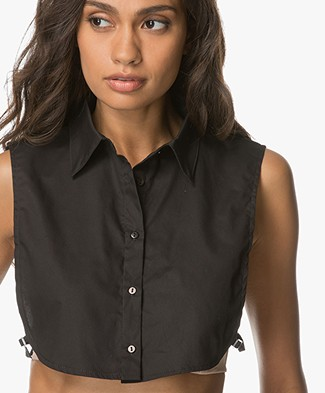 Woman by Earn Collar in Cotton - Black