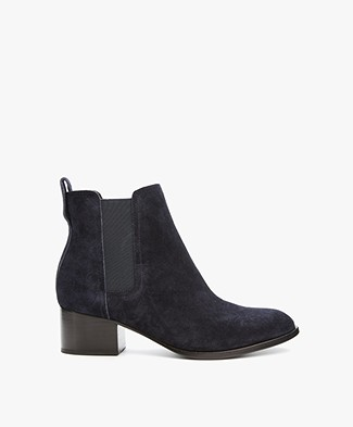 Rag & Bone Walker Boots - Navy Suede