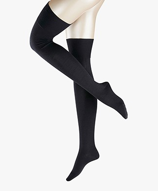 FALKE Seasons Overknee Striggings - Dark Navy