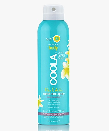 COOLA Organic Suncare - COOLA Sunscreen Spray Body SPF 30 - Pina Colada