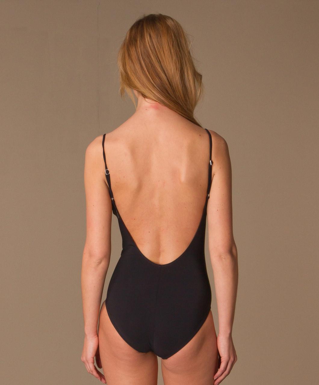 Zwart Badpak Open Rug.Badpak Met Lage Rug Bikinis Voor Meisjes