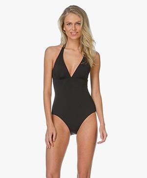 Petit Bateau Halter Neck Swimsuit - Black
