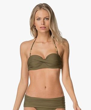 Calvin Klein Front Twist Bandeautop - Military Olive