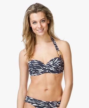 Calvin Klein Bandeau Bikini Top - Black/White