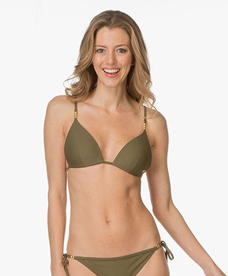 Calvin Klein Molded Triangle Bikini Top - Military Olive