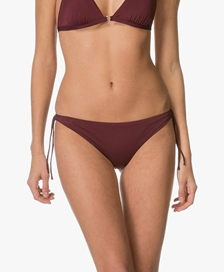 Filippa K Shiny Mini Bikini Bottom -  Mulberry