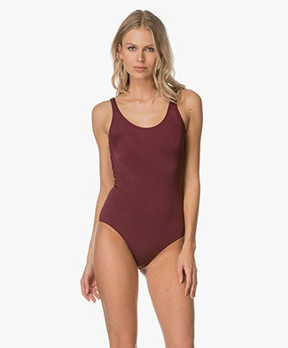 Filippa K Shiny Swimsuit - Mulberry