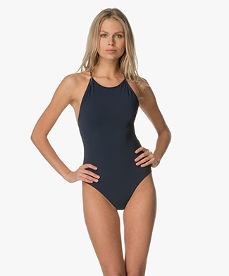 Filippa K Tie-back Swimsuit - Oceanblue