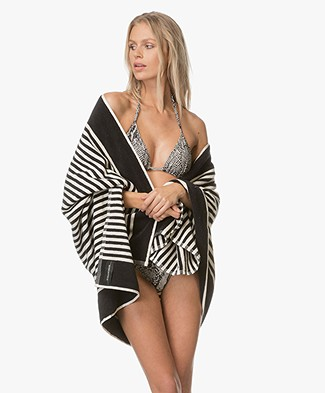 By Malene Birger Pool Towel - Black/Off-white