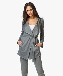 Drykorn Gloster Blazer Jacket with Self-tie Closure - Dark Grey