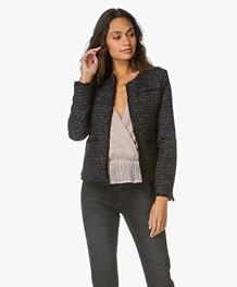 Anine Bing Tweed Jacket - Navy