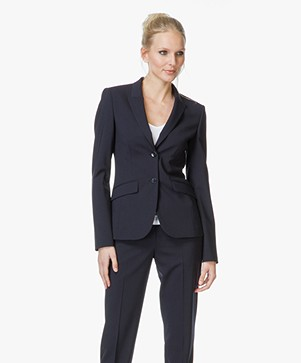Hugo Boss Julea Getailleerde Blazer in Wool Stretch