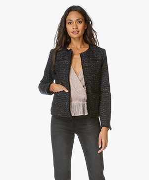 Anine Bing Tweed Jacket - Navy
