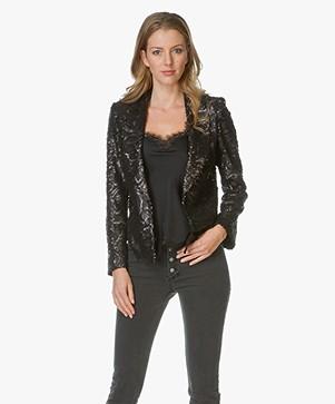 Anine Bing Sequin Blazer - Zwart