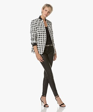 Rag & Bone Archer Checked Blazer - Black/Off-white