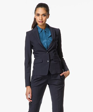 Drykorn Blazer Goole in Cool Wool - Dark Blue