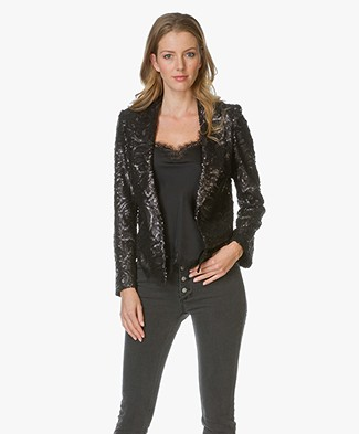 Anine Bing Sequin Blazer - Black