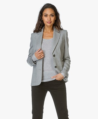 Closed Jersey Blazer St Andrews - Light Grey Melange