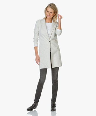 Josephine & Co Eddo Long Jersey Blazer - Light Grey