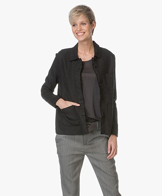 Majestic Linen Blouse jacket - Noir