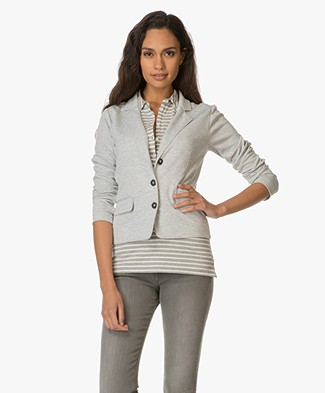 Josephine & Co Eugenie Jersey Blazer - Light Grey