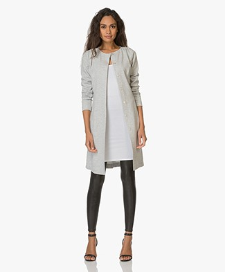 Josephine & Co Evelien Jersey Long Blazer - Light Grey