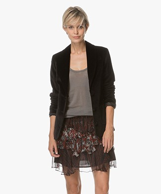 Anine Bing Blazer in Velvet - Black