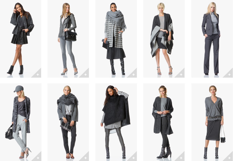 Stoere grijze jeans in combinatie met grof gebreid dames