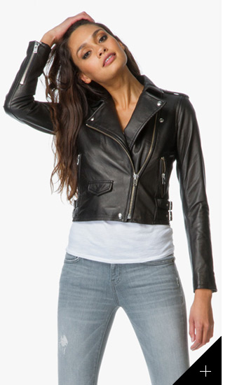 7d0105877560 The black biker jacket is a true classic. This IRO design is worth the  investment! 2. Leather meets minimalism with this Zadig   Voltaire design -  perfect ...