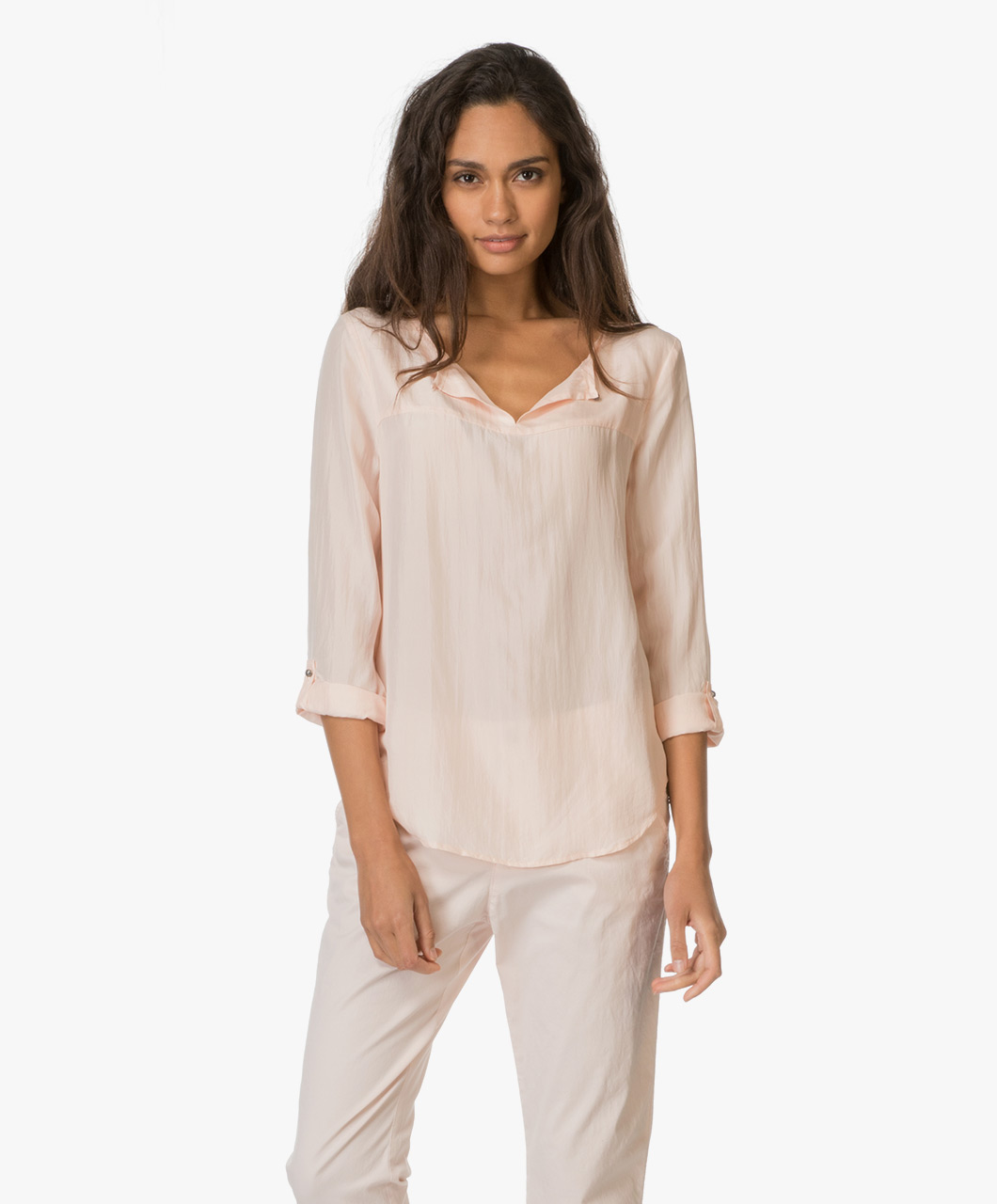 boss orange cesima silk blouse light pastel pink cesima 50330166 687 light pastel pink. Black Bedroom Furniture Sets. Home Design Ideas