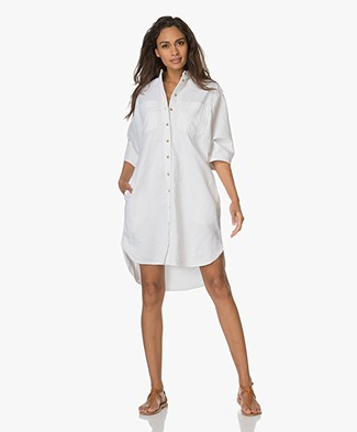 Closed Cerys Denim Shirt Dress - Blanched