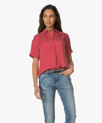 Indi & Cold Cupro Blouse - Rojo
