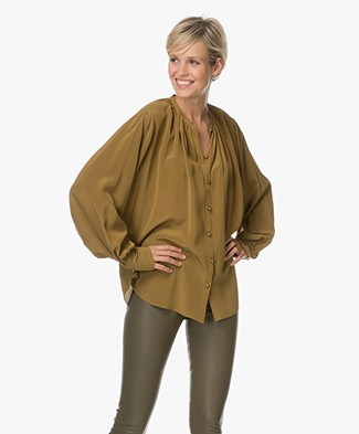 Joseph Everett Silk Blouse - Olive