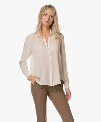 FWSS Left & Right Blouse - Silver Peony