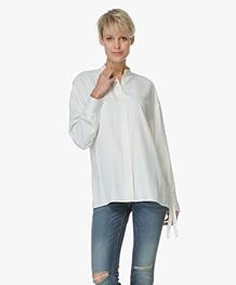 Helmut Lang Back Overlap Blouse - Off-white