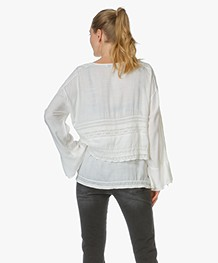 IRO Embroidered Blouse Apie - Off-white
