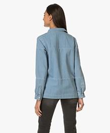 ANINE BING Denim Shirt - Washed Blue Denim
